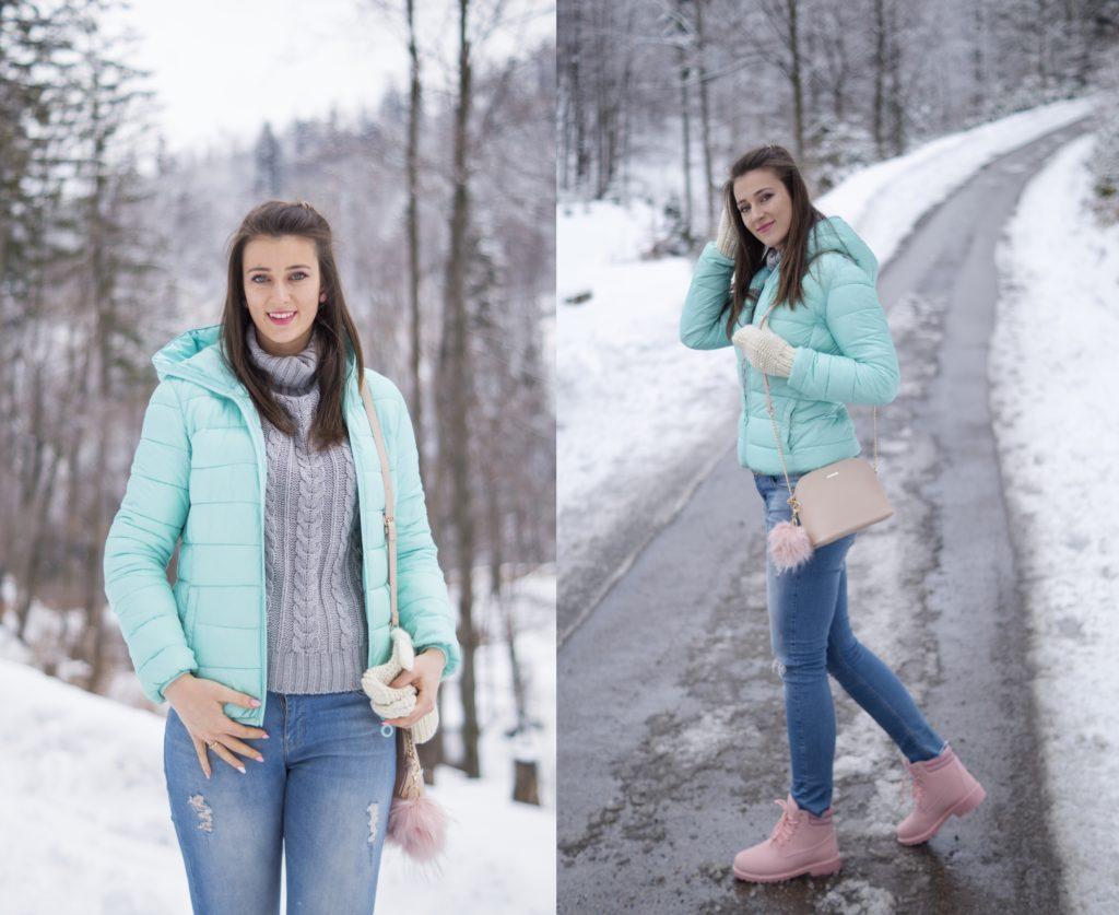 pastelowa stylizacja na zimę