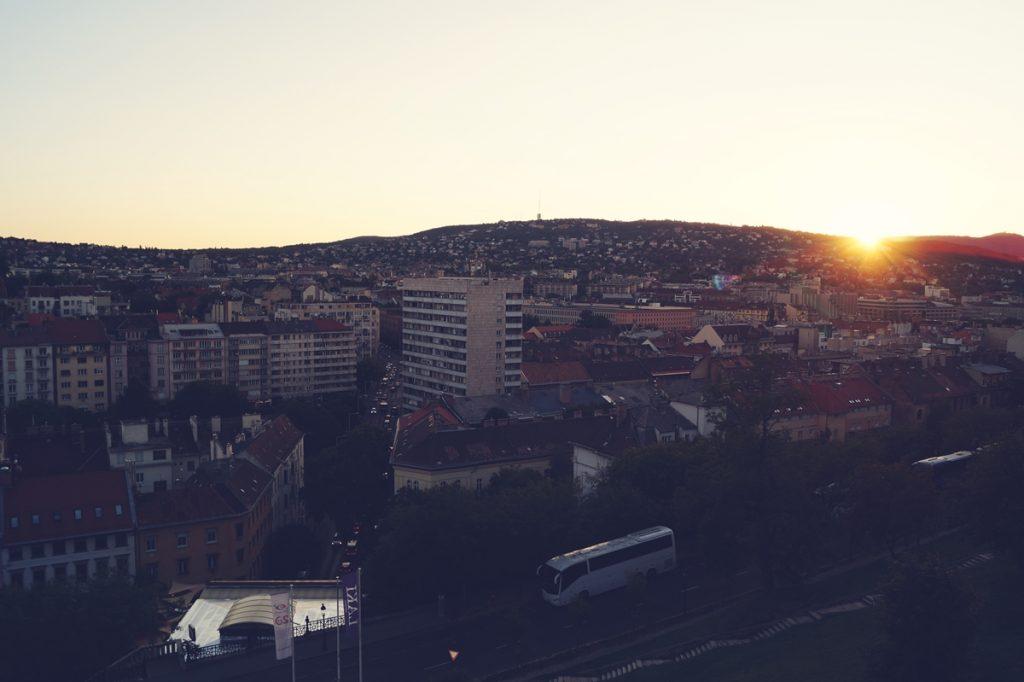Widok z wzgórza zamkowego w Budapeszcie