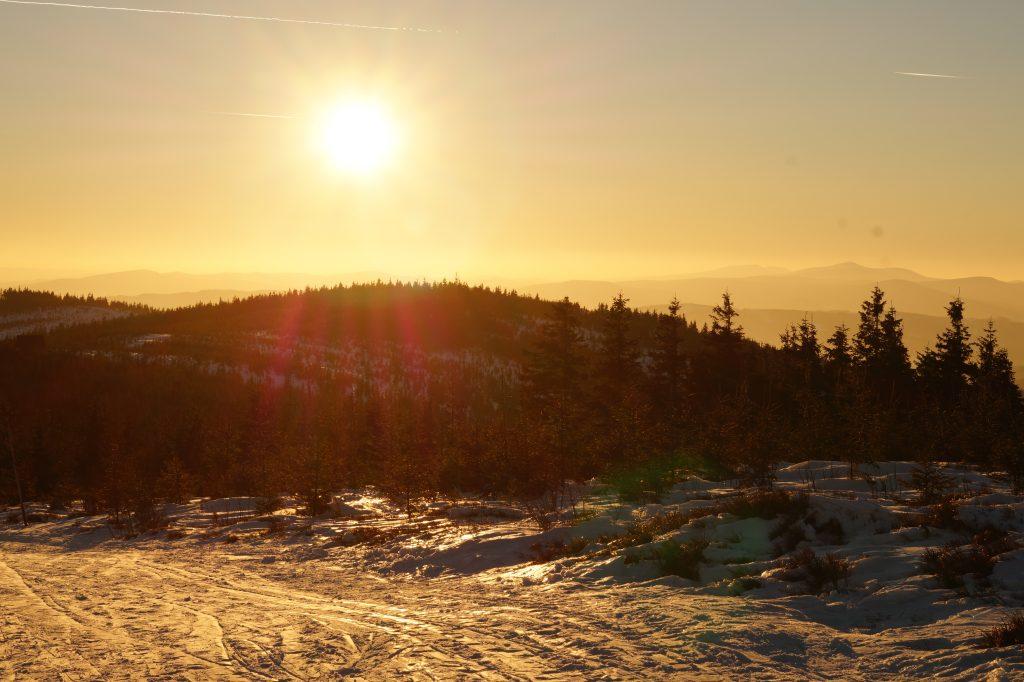 zachód słońca Szczyrk