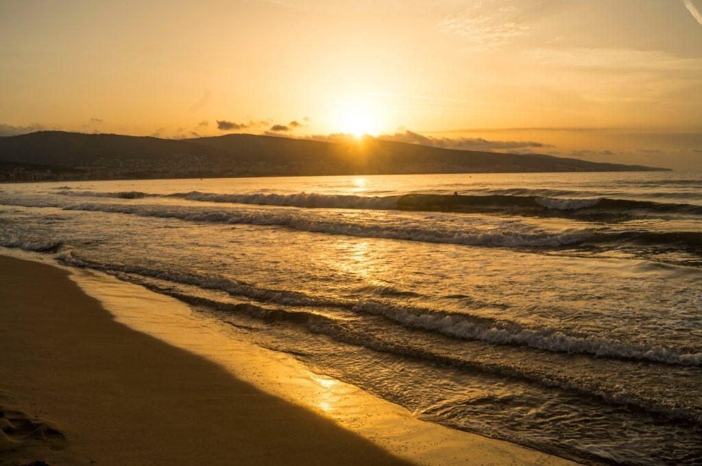 wschód słońca słoneczny brzeg